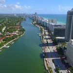 Aerial video Indian Creek Miami Beach