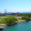 Aerial video Chicago Milton Lee Olive Park and Navy Pier 4k 60p