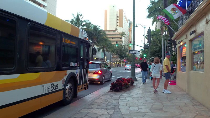 Seaside Avenue Waikiki Beach honolulu Hawaii