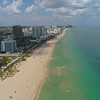 Crowded beaches for Spring Break 4k aerial video