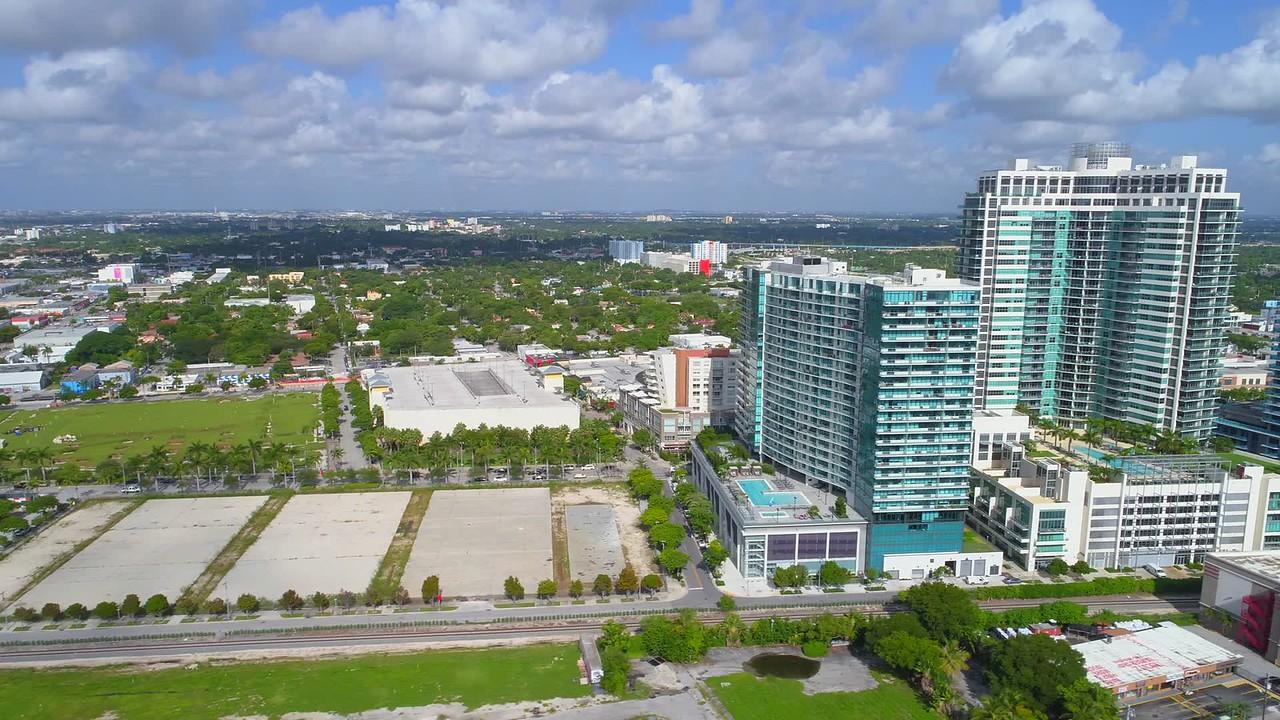 Aerial video Miami Midtown