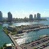 Aerial shot Biscayne Bay Miami Beach