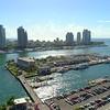Aerial shot Biscayne Bay Miami Beach