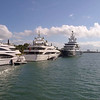 Luxury yacht at Museum Park Miami
