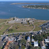Aerial scene St Augustine Florida 4k 60p