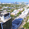 Aerial video Miami Beach Lincoln Road clock tower