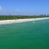 Aerial establishing shot Haulover Beach FL