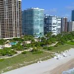 Aerial shot of bal Harbour Florida