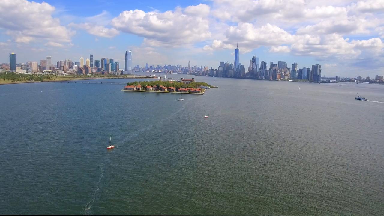 Aerial tour Ellis Island