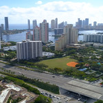 Aerial video of the Aventura Police Department