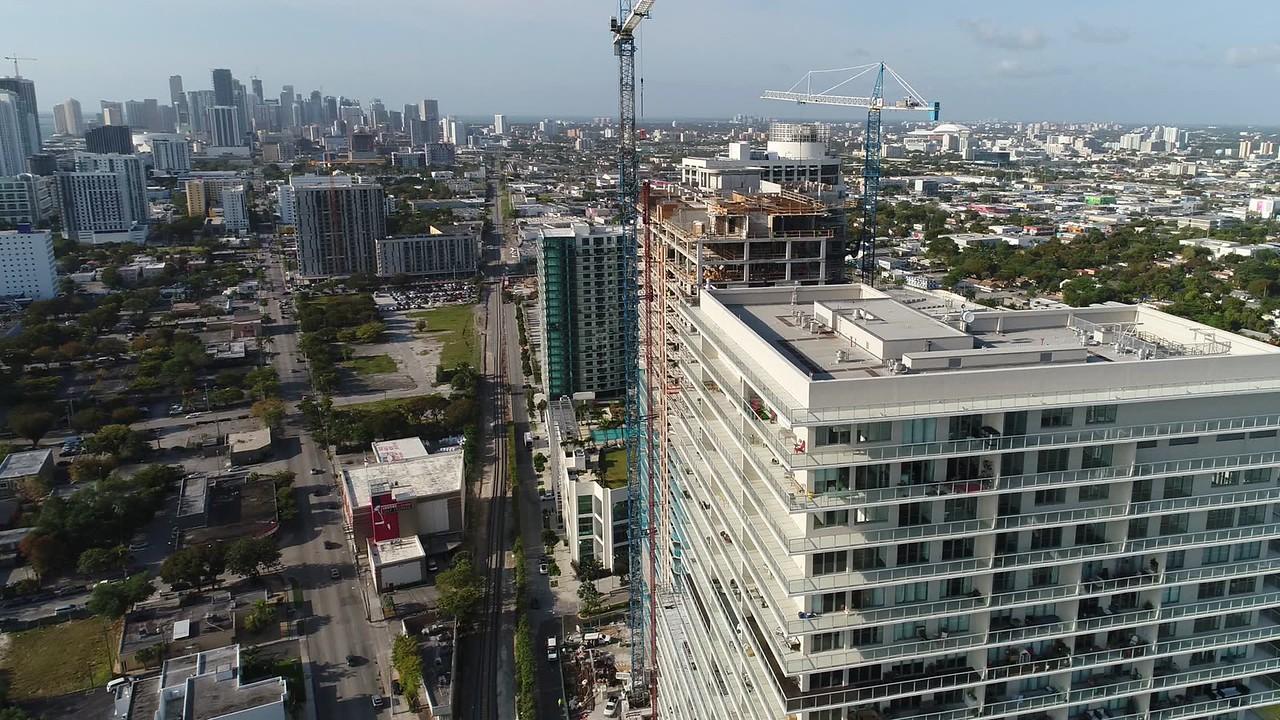 Lofts at Midtown Miami aerial video