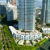 Aerial reveal Miami Beach condominiums 4k 60p
