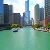 Aerial tour of the Chicago River 4k 60p