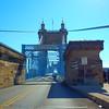 Driving on the John A. Roebling Bridge
