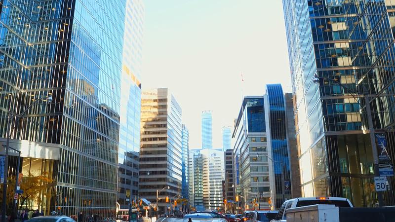Modern office buildings Toronto Canada
