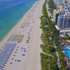 Drone flying over Miami Beach 4k video
