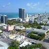 Aerial flythrough Miami Beach 4k 60p