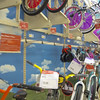 Childrens bikes for sale at a retail store