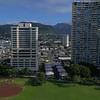 Aerial video Ala Wai Community Park Honolulu Hawaii 4k