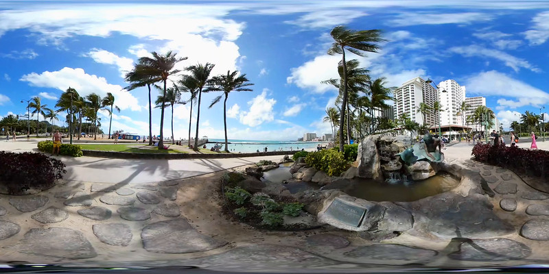 360 video of Waikiki Beach Hawaii, USA