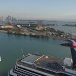 Stock aerial video of Watson Island Miami FL, USA
