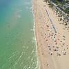 Aerial beach drone flyover 4k