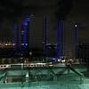 Aerial video Bentley Bay Condominium at night