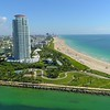 Aerial South Pointe Park Miami Beach 4k 60p