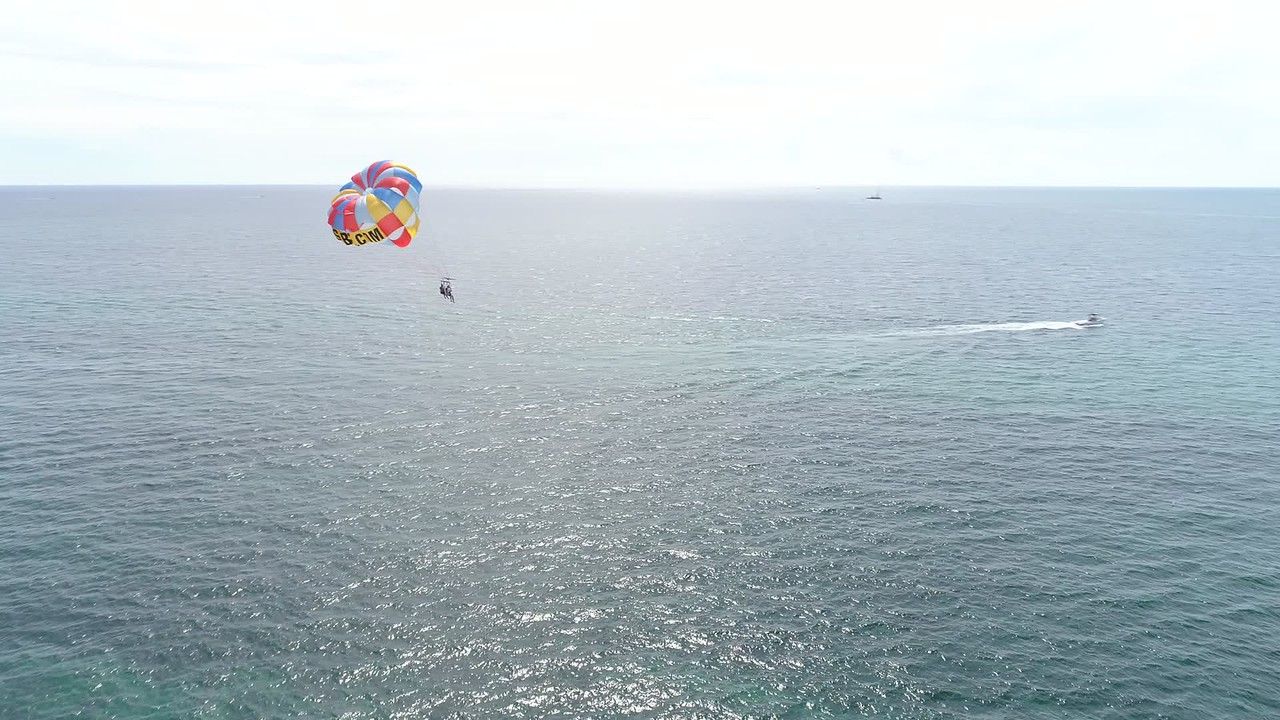 Aerial South Beach Parasail
