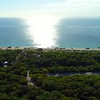 Aerial video Hugh Taylor Birch State Park and A1A Fort Lauderdale