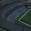 Turner Field Atlanta drone flyover at dusk