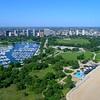 Aerial video Chicago beach 4k