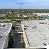 Aerial video of a mall parking garage