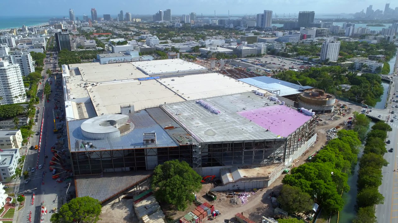 Miami Beach Convention Center construction 4k 60p