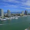 Miami Beach scenic aerial video 2