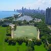 Birdseye view Scenic Chicago 4k