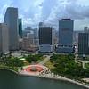 Slow motion aerial Downtown Miami 4k 60p
