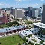 Aerial drone video Downtown Richmond VA, USA