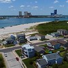 Aerial drone video Absecon Inlet New Jersey Brigantine