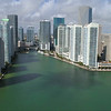 Entering the Miami River drone aerial
