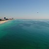 Aerial video powered paraglider over Miami Beach