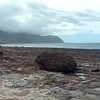 Kaena Point State Park volcanic rock
