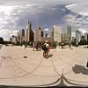 360vr Cloud Gate Millennium Park Downtown Chicago