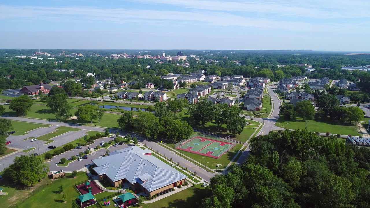 Aerial video of Fayetteville North Carolina