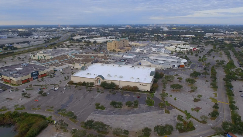 The Florida Mall slow motion aerial