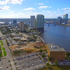 Aerial footage Downtown Jacksonville Florida