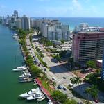 Aerial video of the Alexander Miami Beach condominium 4k 60p