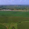 Aerial shot Iowa USA agriculture farmland landscape 4k