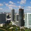 Aerial stock Edgewater Miami