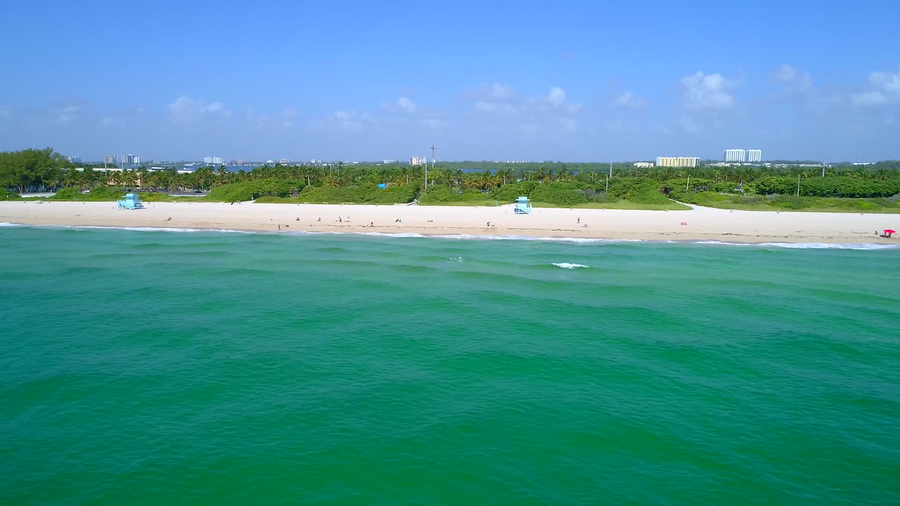 Aerial drone footage Haulover Beach FL 4k 60p